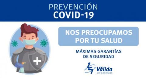 màximes garanties de salud davant el covid-19 a Válida sin barreras