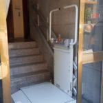 Plataforma salvaescales doble embarcament en comunitat de propietaris a Sabadell