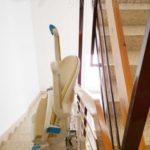 Cadira salvaescales model SOCIUS per a superar escales tram corb Puigreig Lleida