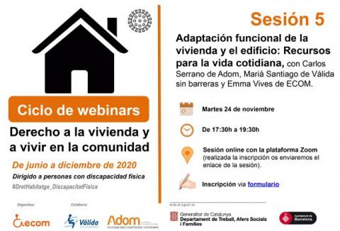 webinar sobre adaptació d'habitatges i edificis