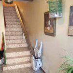 Suprimir els desnivells verticals amb una cadira pujaescales a Saragossa