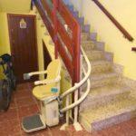 Cadira salvaescales Socius instal·lada a casa particular de Cabezón de la Sal a Cantabria