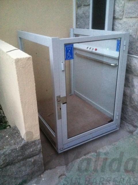 elevador exterior per a recorreguts de fins a 3 metres a villarino salamanca