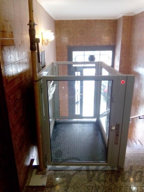 cabina de vidre elevador petit alcorcon
