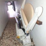 Cadira salvaescales Fidus instal·lada a casa particular de Caudete en Albacete