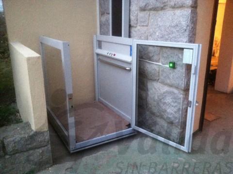 elevador petit a intemperie amb cabina de vidre model vectio