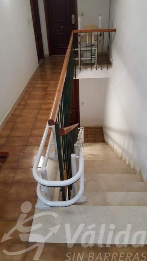 Guia corba de cadira pujaescales Socius amb Simplicity a La Garriga