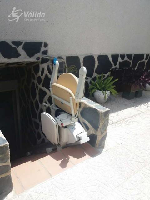 Cadira salvaescales FIDUS instal·lada a casa particular de Illescas a Toledo
