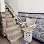 Cadira salvaescales instal·lada a casa particular de les Coves de Vinromà a Castellón
