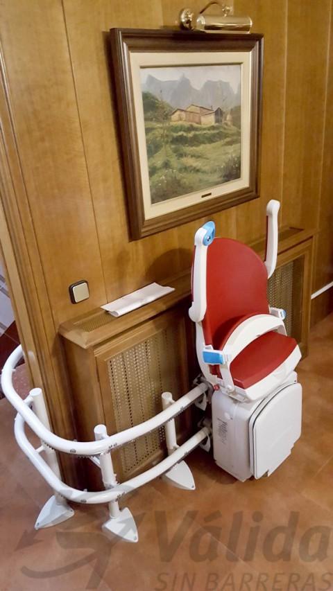 cadira per pujar escala corba muntada a mollet vallès barcelona