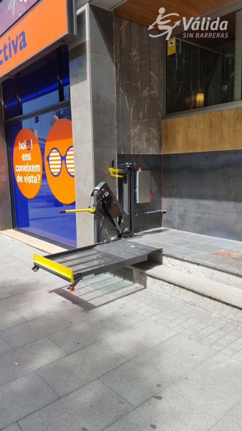 optium plataforma elevadora lineal d'un sol braç