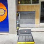 plataforma elevadora lineal per a persones amb cadira de rodes