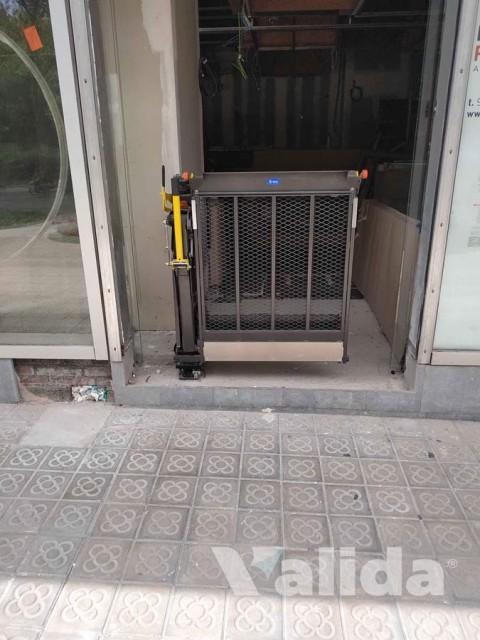 Plataforma elevadora optium per personas amb cadira de rodes