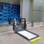 Plataforma elevadora lineal per pujar persones amb mobilitat reduïda