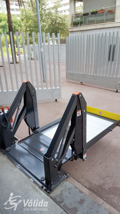 ajuda tècnica per suprimir barreres arquitectòniques plataforma