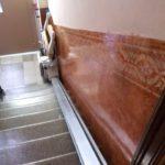 En una casa particular de Barcelona centre s'ha instal·lat una cadira pujaescales Fidus