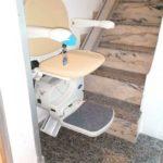 instal·lació de cadira salvaescales a casa particular de Puerto de Sagunto