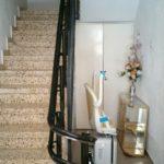 cadira salva escales amb parking inferior instal·lat a pineda de mar