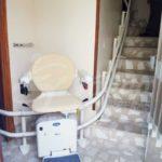 cadira salvaescales silenciosa instal·lació casa Ávila Solana de Rioalmar