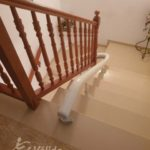 Escala amb corbes i replans a casa particular a El Vendrell