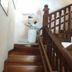 Cadira pujaescales per a pujar i baixar escales a San Lorenzo del Escorial