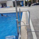 A hotel de platja d'aro s'ha instal·lat una cadira hidràulica per a piscines Aqua