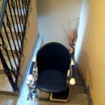 cadira salvaescales instal·lada a casa particular de Santander
