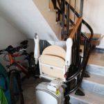cadira pujaescales instal·lada a interior de casa particular a Murcia