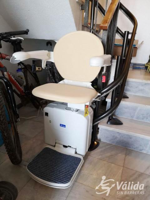 cadira salvaescales per a trams d'escala corbs a Murcia