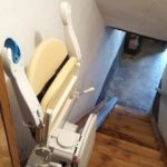 Cadira salvaescales Fidus instal·lada a casa particular de Lantz, Navarra