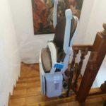cadira elevadora instal·lació pujar assegut Jávea Alicante Valencia