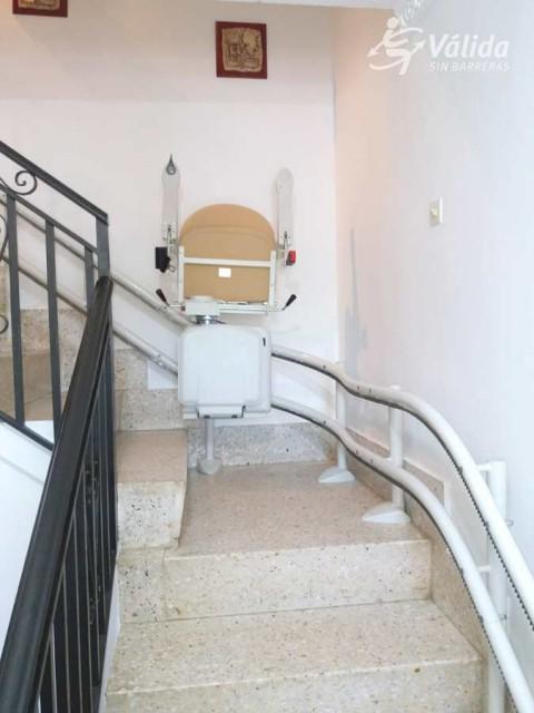 cadira salvaescales SOCIUS instal·lada a casa particular de Luciana, Ciudad Real