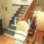 Cadira salvaescales Socius instal·lada a casa particular de Palencia