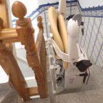cadira plegable per a millorar la seguretat de persones amb mobilitat reduïda