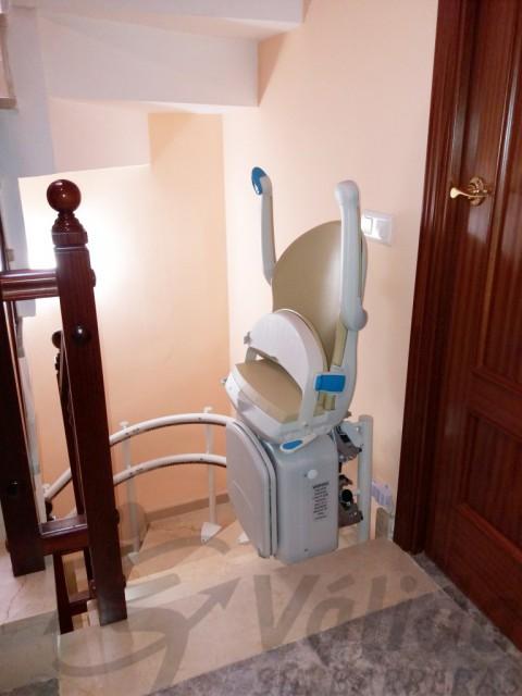 cadira plegada amb potent motor i tram articulat falset