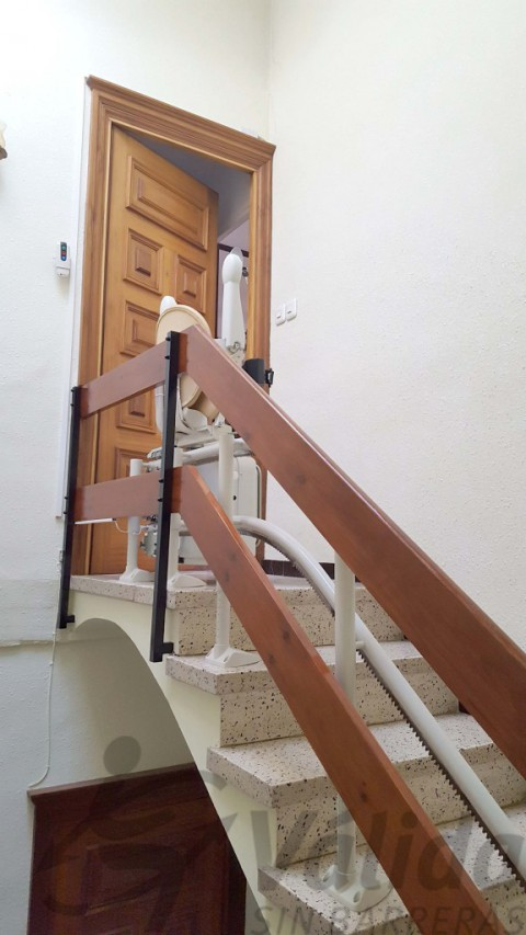 doble guia per cadira puja escales olot