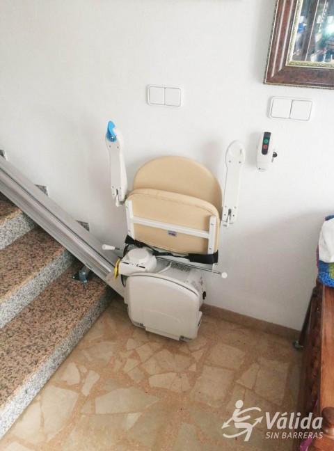 cadira salvaescales per a millorar l'accessibilitat a Vila-seca a Tarragona